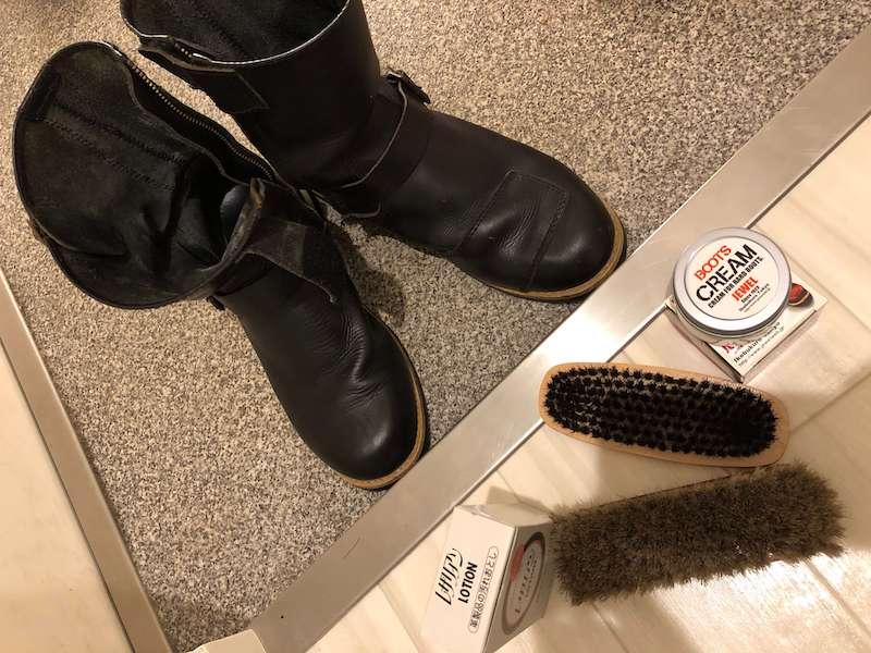 革ブーツのメンテナンス