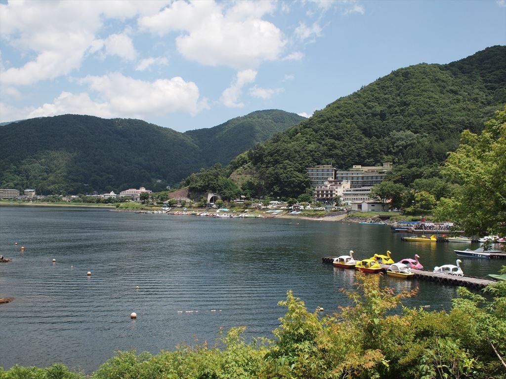 河口湖の景色