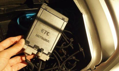 バイクとETC車載器の画像
