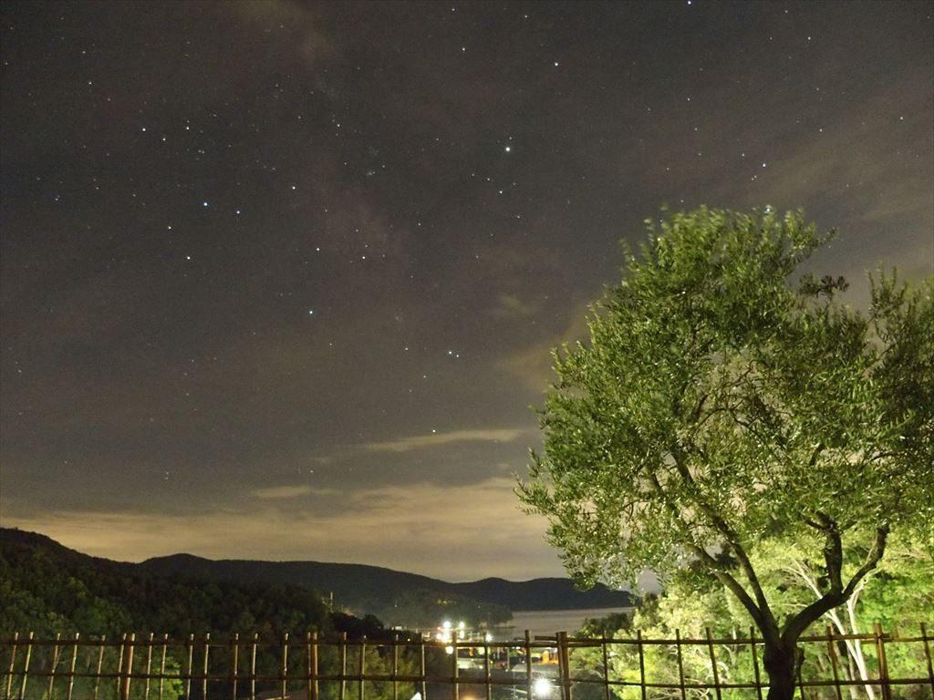 小豆島ふれあいキャンプ場の夜景