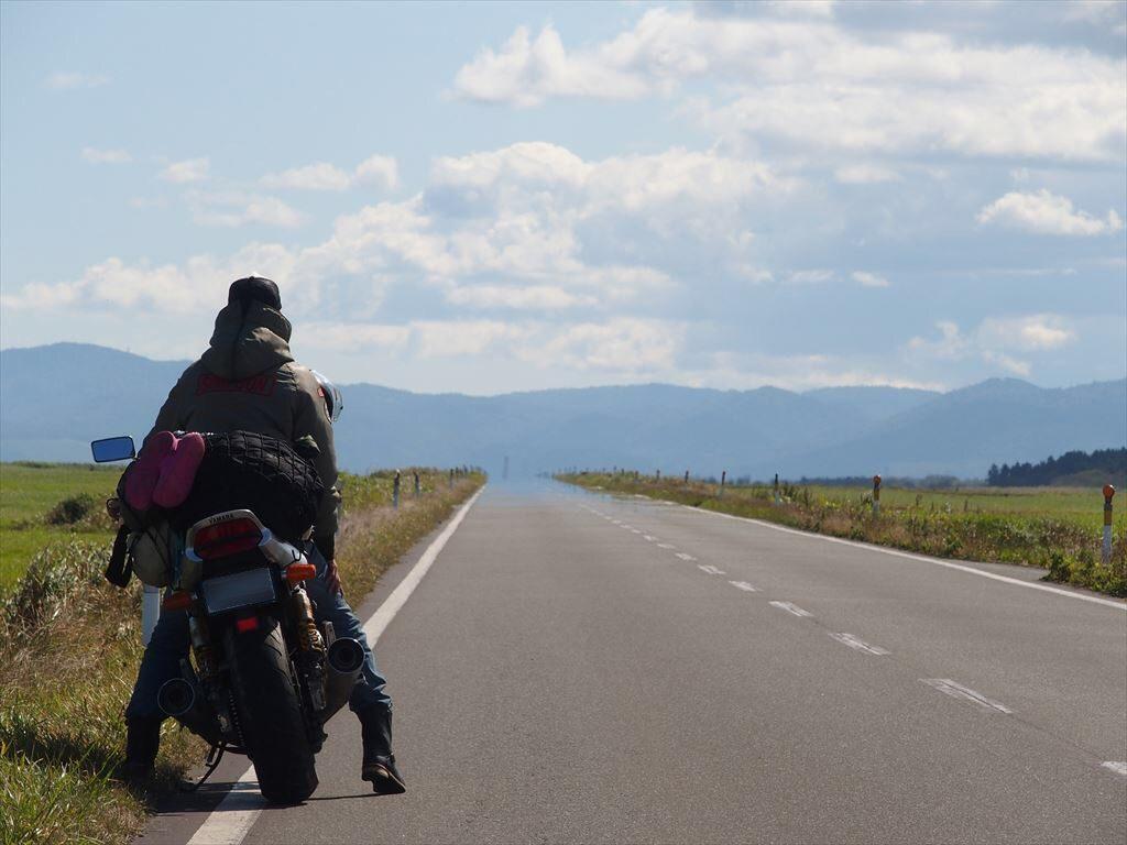バイクとエサヌカ線