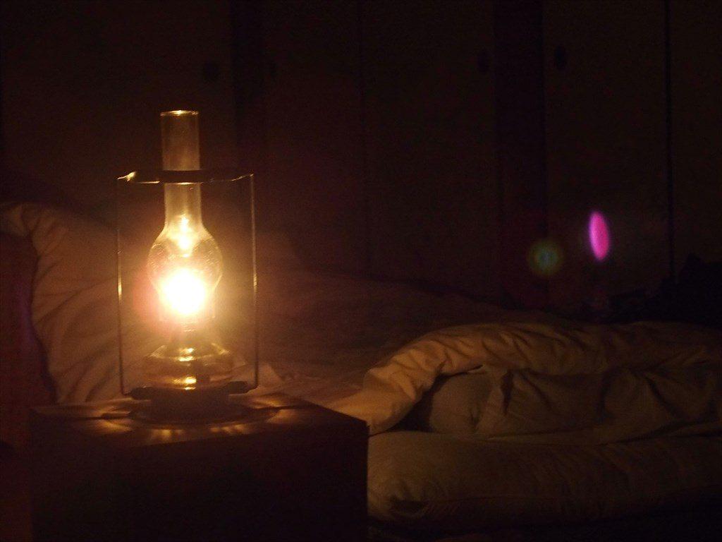 渡合温泉ランプの宿(就寝時)