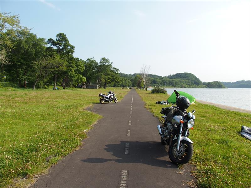 呼人浦キャンプ場の風景