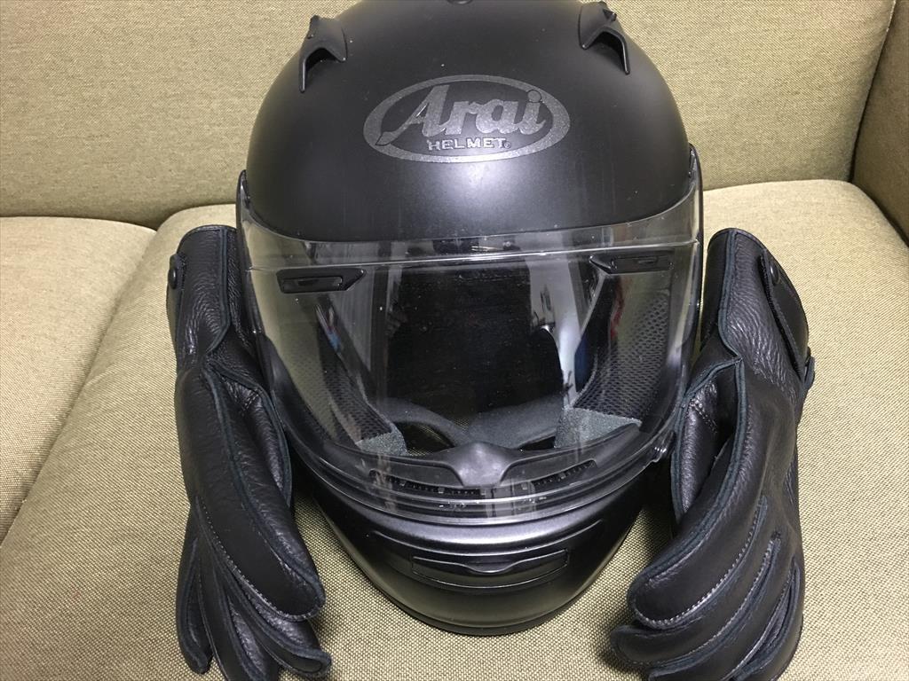 愛用のヘルメットの写真