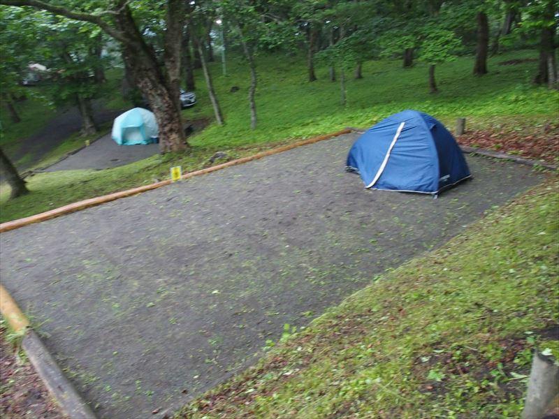 判官館森林公園キャンプ場のサイト