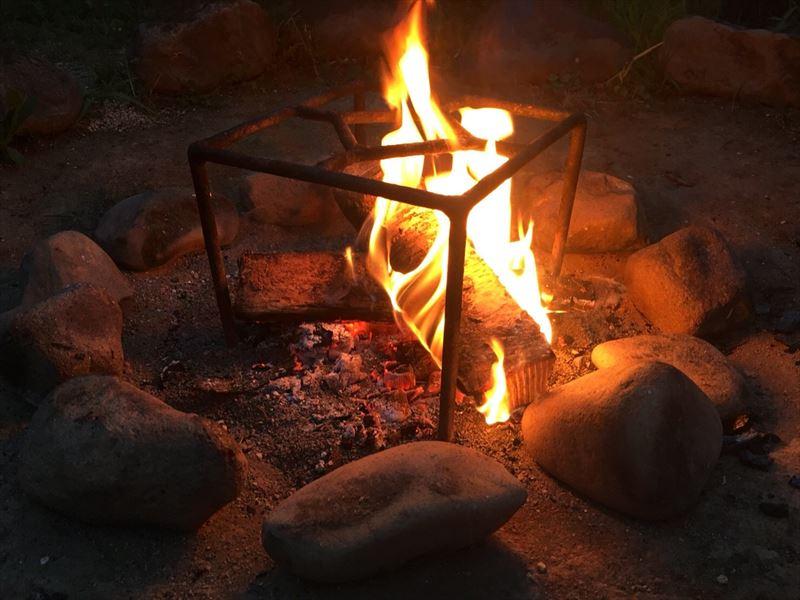 ニセコサヒナキャンプ場と焚き火