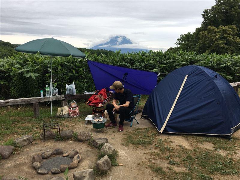 ニセコサヒナキャンプ場のサイト風景