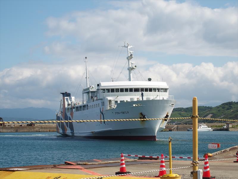 奥尻島行きのフェリー
