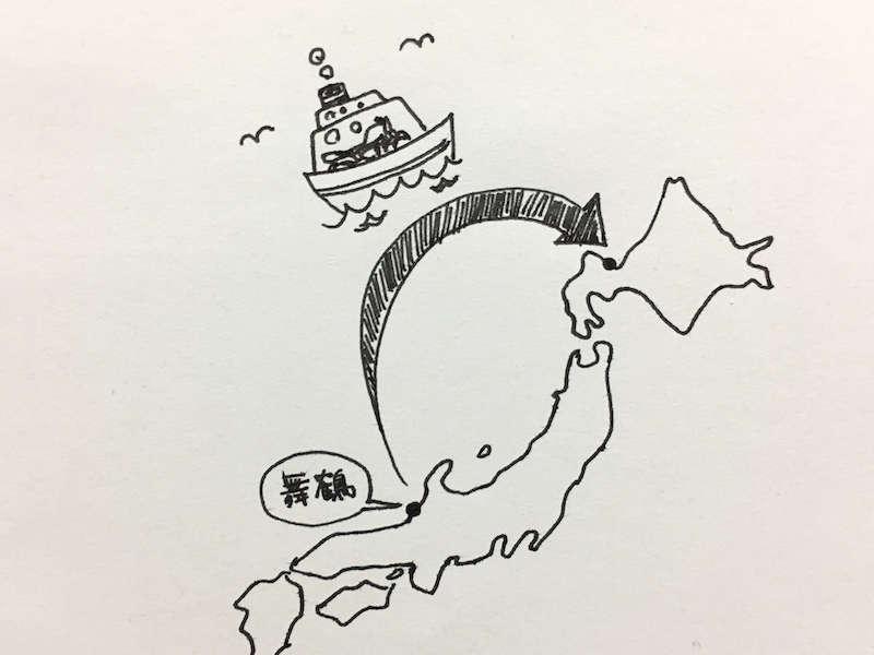 フェリーで北海道ツーリング
