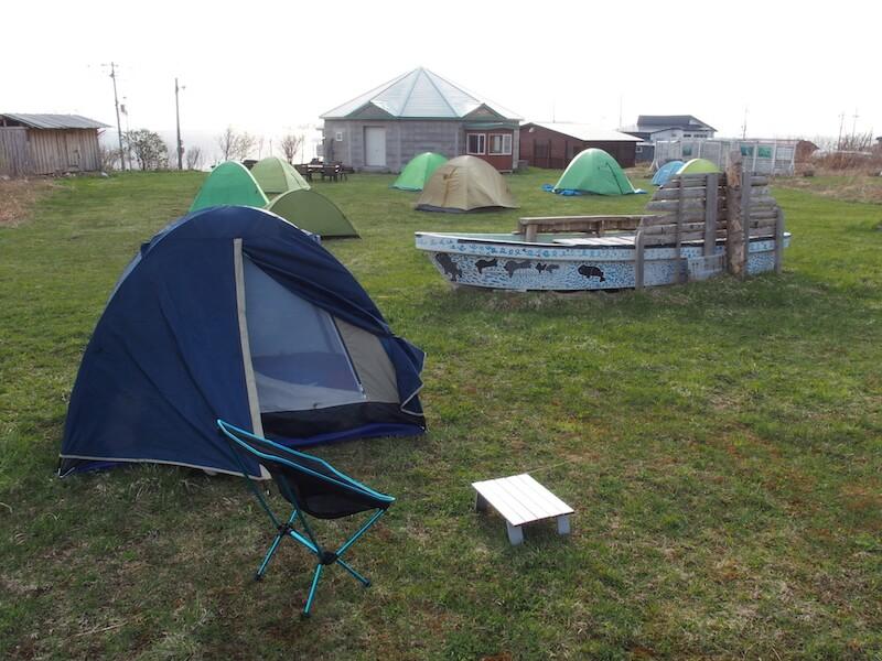 天売島のキャンプ場