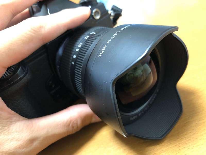 超広角レンズの外観
