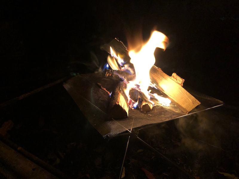 焚き火台の使用例