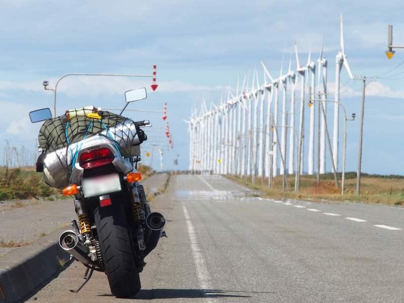 オロロンラインとバイク