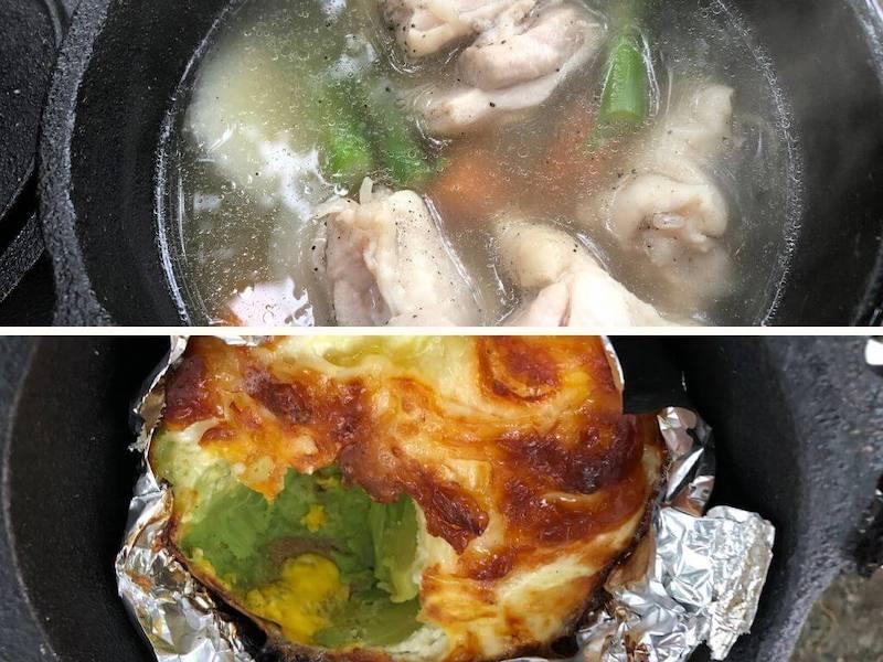 ダッチオーブンで作った料理