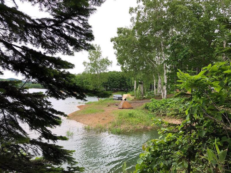 朱鞠内湖半キャンプ場の外観