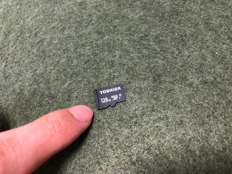 マイクロSDカードの128GB