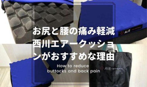 お尻と腰の痛みを軽減する方法(西川エアークッション)