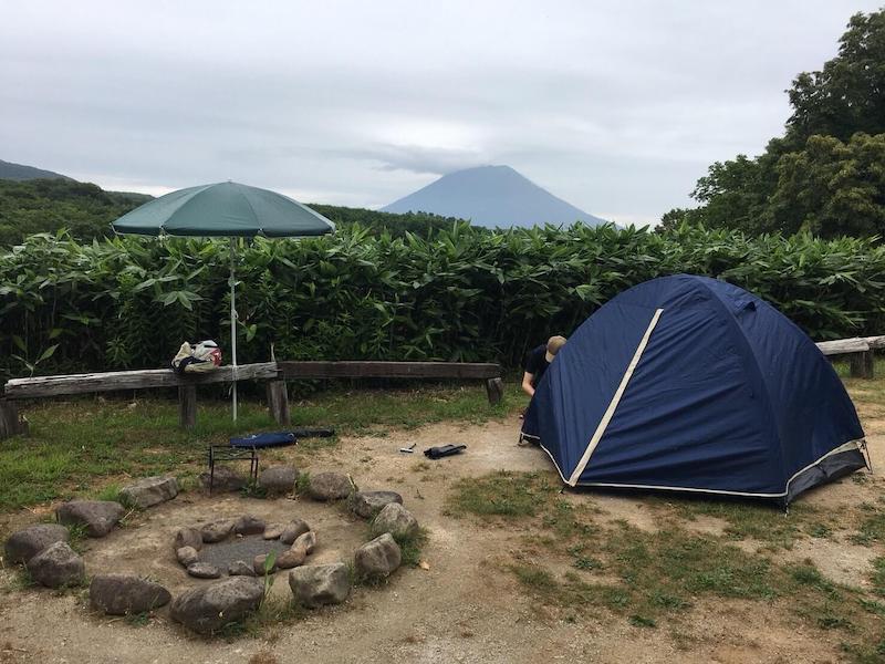 ニセコサヒナキャンプ場の風景