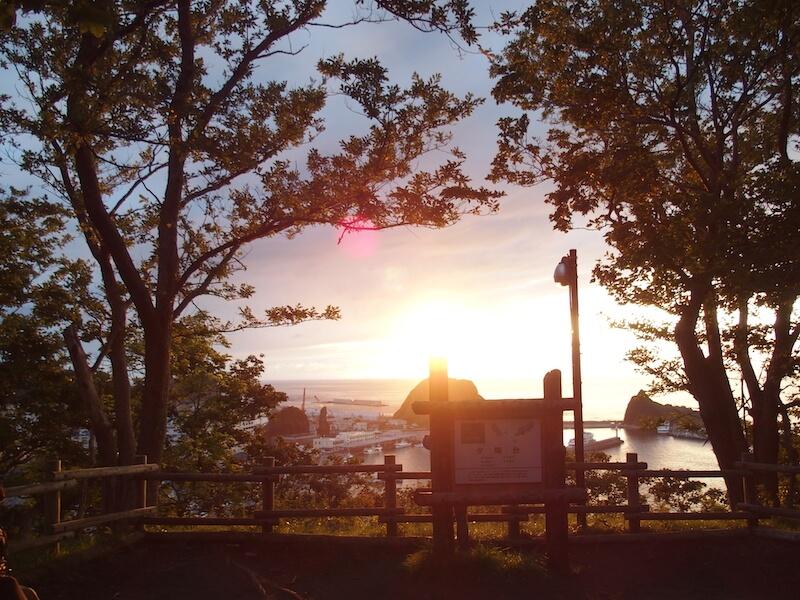 国設知床野営場に隣接する展望台からの眺め