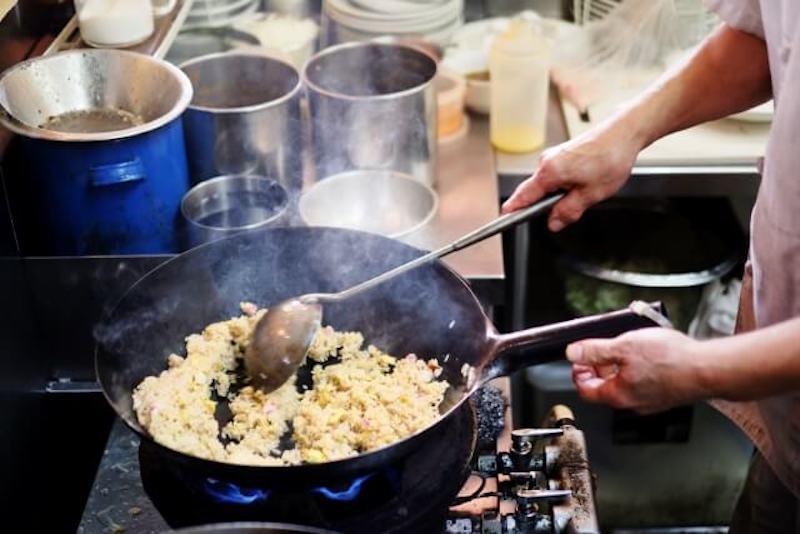 中華鍋の使用例