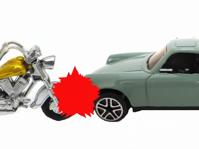 バイクと車の事故